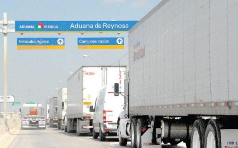 Cae el comercio fronterizo por autotransporte