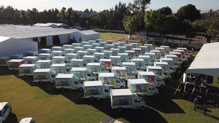 Bimbo estrena camiones eléctricos