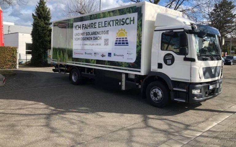 En Alemania desarrollan camión que funciona con energía solar.