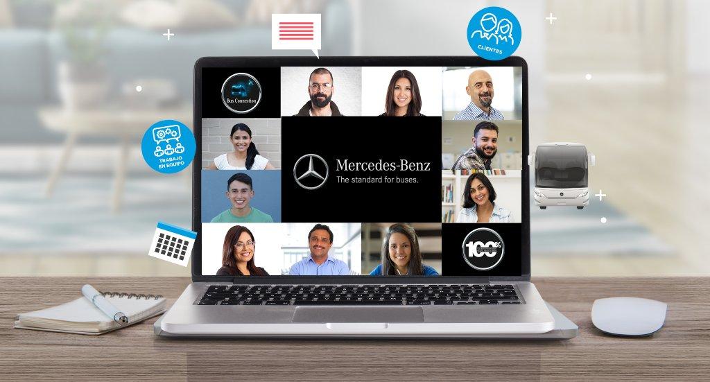 Mercedes-Benz Autobuses está capacitando distribuidores y clientes por medio de videoconferencias