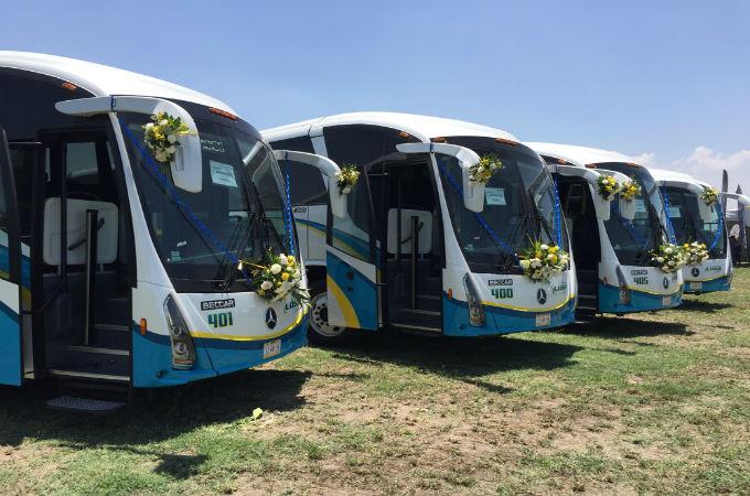 Banderazo Hidalgo seis autobuses